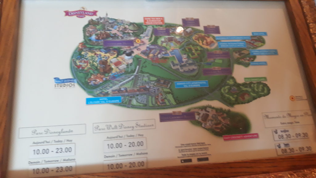 Map of Disneyland Paris