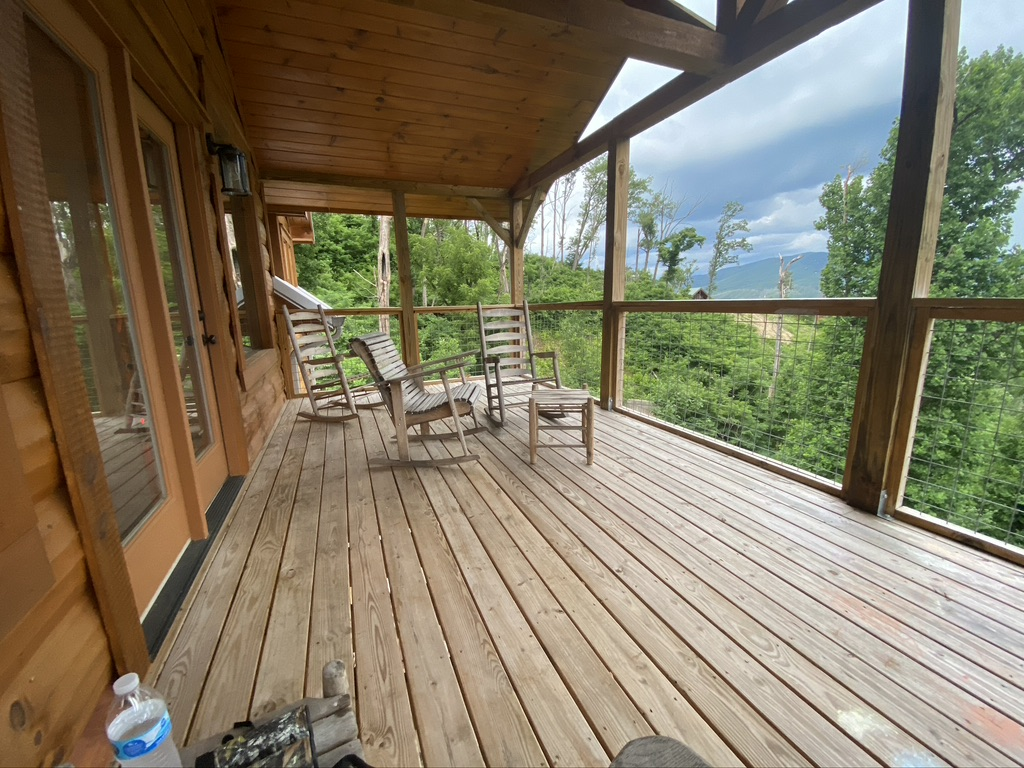 1 of 3 decks back of cabin